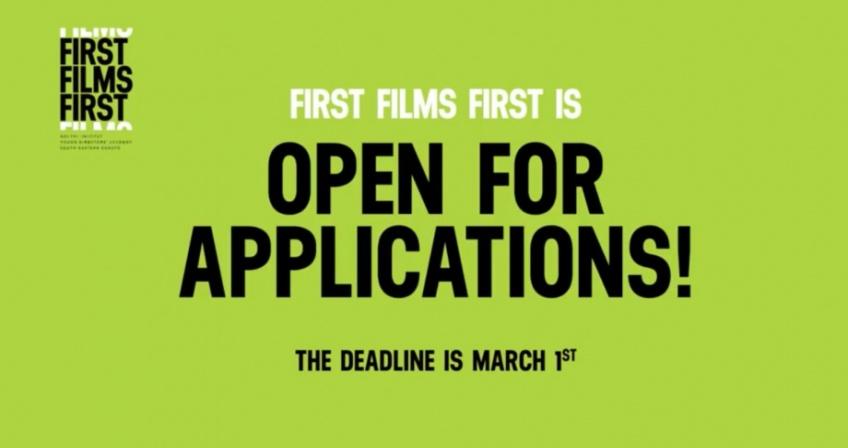 Otvoren Konkurs za prijave projekata na FIRST FILMS FIRST